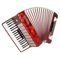 Weltmeister Stella, 96 Bass, made in Germany, Piano Accordion, New Straps, 1547, Original Musical Instrument, Excellent Sound!