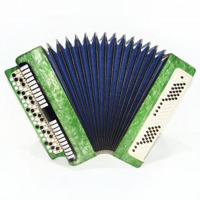 Folk Bayan Etude, Russian Chromatic Button Accordion, Tula, New Straps Case 1549, Very Beautiful Sound!