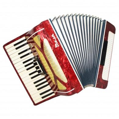 Russian Lightweight Piano Accordion Temp for Beginner Children Kids 80 bass 1551, Case, Keyboard Accordian, Amazing sound.