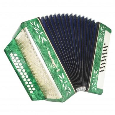 Folk Garmon Vesna 2, made in Russia Accordion Harmonica, 25x25, 2 registers 1553, Squeezebox, Very Nice and Bright sound!