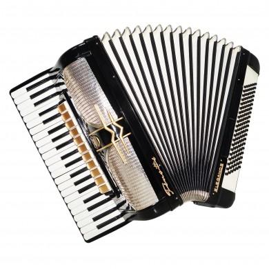 Full Size German Piano Accordion Firotti Elegance, 120 Bass, New Straps, 1567, Wonderful sound.