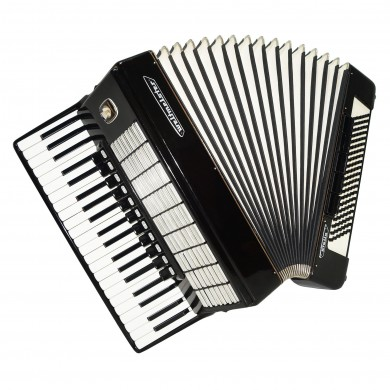 Full Size Weltmeister Stella, 120 Bass, German Piano Accordion, New Straps, 1570, Excellent Sound!