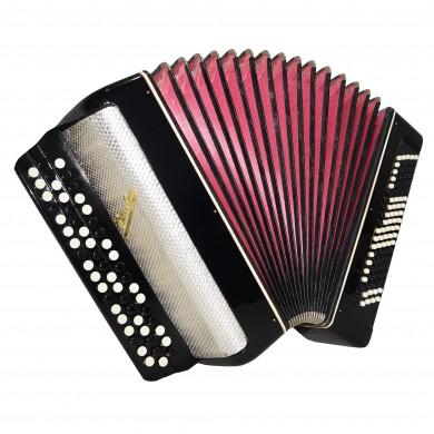 Folk Chromatic Button Accordion, Bayan Rassvet, 100 bass, made in Russia, 1573, Very Beautiful Sound!