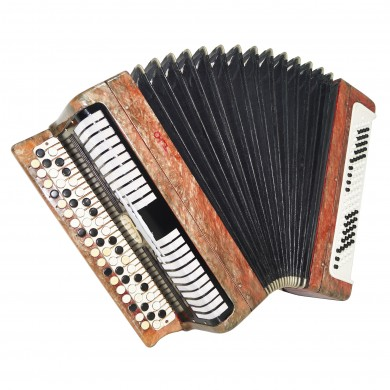 Bayan Etude, made in Tula, Russia, Button Accordion, 100 bass, New Straps, 1577, Rich and Powerful Sound!