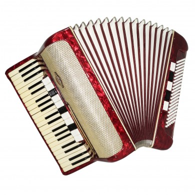 Accordion Kohler, made in Germany, Original Full Size 120 Bass, New Straps 1579, Rich and Powerful Sound!