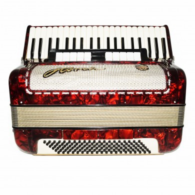 Accordion Horch, made in Germany High Quality 120 Bass Original Straps Case 1593, Very Beautiful and Powerful Sound!