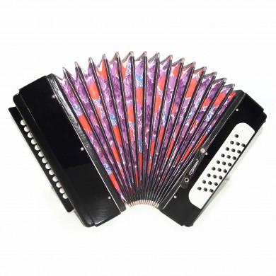 High Quality Tulskaya Harmonica made in Tula Russia Button Accordion Garmon 1586, 25x25 Squeezebox, Powerful and Amazing sound!