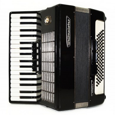 Weltmeister Stella, 80 Bass Piano Accordion, made in Germany, New Straps, 1588, Original Musical Instrument, Excellent Sound!