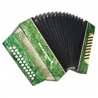 Folk Garmon Marichka, Ukrainian Button Accordion Harmonica 23x25 Squeezebox 1589, Very Nice and Bright sound!