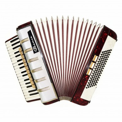 Original German Piano Accordion Premiera, 96 Bass, 14 Switches, New Straps, 1590, Excellent Sound!