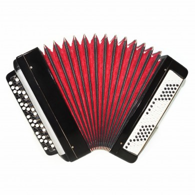 Original Tulskiy Bayan, Russian Button Accordion Tula, 100 Bass, New Straps 1592, Excellent and high quality sound!