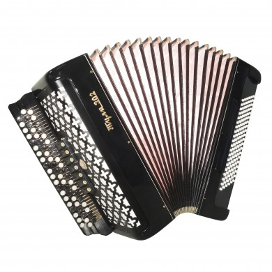 Double Cassotto Converter Bayan Tula 302 Russian Button Accordion Free Bass 1597, New Straps, Great Concert Chromatic Accordian, Poweful Sound!