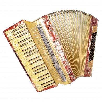 Meinel & Herold Klingenthal, Vintage German Accordion, 96 Bass, New Straps, 1600, Rich and Beautiful sound.