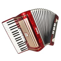 Accordion Weltmeister, High Quality made in Germany 80 Bass New Straps Case 1601, Bright and Quality Sound!