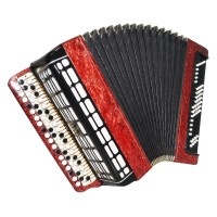 Bayan Etude 205, Russian Button Accordion, Tula, 3 Rows 100 Bass New Straps 1603, Bright and Quality sound!
