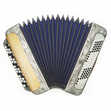Bayan Moscow, 100 Bass, Vintage Russian Button Accordion New Straps Case 1605, Very Beautiful sound!