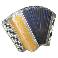Rare Bayan Moscow, made in Russia 100 Bass Button Accordion New Straps Case 1605, Excellent sound!