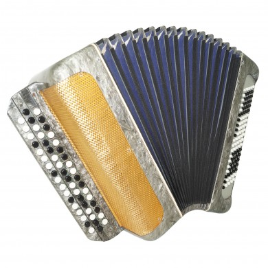 Rare Bayan Moscow, made in Russia 100 Bass Button Accordion New Straps Case 1605, Very Beautiful sound!