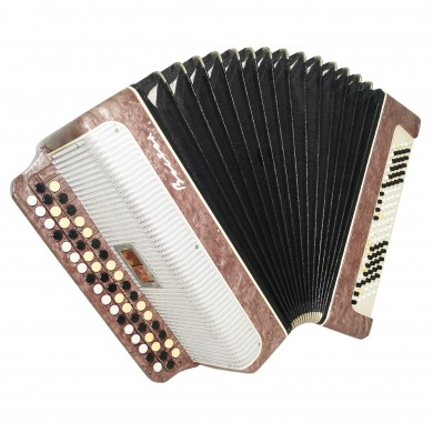 Bayan Vostok, Russian Button Accordion 100 Bass 2 Registers New Straps Case 1612, Bright and Quality sound!