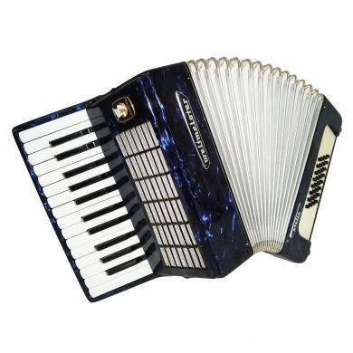 Perfect Weltmeister Stella 32 Bass, German Accordion, Light Weight Beginner 1607, incl. New Straps, Case, Wonderful Sound.