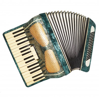 Accordion Octava, made in Russia, 80 Bass, Piano Accordian, New Straps Case 1613, Beautiful sound.