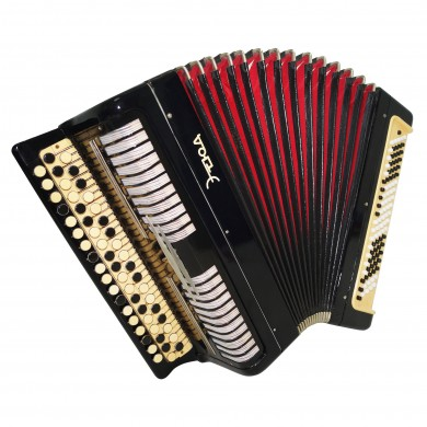 Folk Bayan Etude, Tula, Russian Button Accordion, 100 bass, New Straps Case 1608, Rich and Powerful Sound!