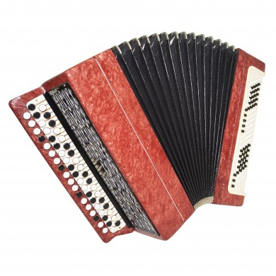Bayan Tula 202, made in Russia, 3 Rows 100 Bass Chromatic Button Accordion, 1614, Bright and Quality sound!