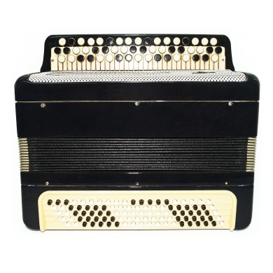 Tulskiy Bayan, made in Tula Russia, Original Button Accordion, New Straps 1662, Very Beautiful and Powerful sound!
