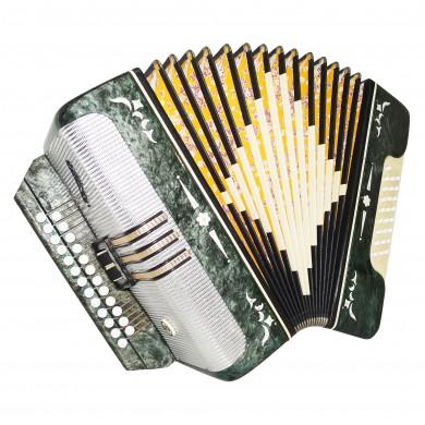 Harmonica Belarus, Folk Russian Button Accordion, 25x25 Garmon, Straps, 1609, Very Beautiful sound.