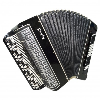 Close to New! Converter Free Bass Stradella, Bayan Rubin 3 Button Accordion 1610, 120 Bass, incl Case, Rare and Gorgeous Concert Russian Accordion.