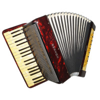 Hohner Verdi, made in Germany, Vintage Piano Accordion, 80 Bass, New Straps 1716 Wonderful Sound!