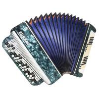 Folk Bayan Tembr, made in Tula, Russia Button Accordion 100 Bass New Straps 1622, Stradella, B System, Excellent sound!