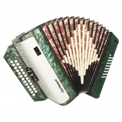 Harmonica Belarus Folk Button Accordion 25x25 2 Register Garmon Straps Case 1640, Very Beautiful sound!