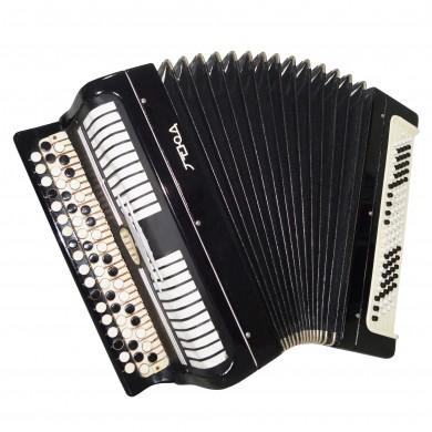 Folk Bayan Etude, Russian Chromatic Button Accordion, Tula, New Straps Case 1641, Very Beautiful Sound!