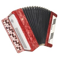 Bayan Tulskiy Original Button Accordion made in Tula Russia New Straps Case 1621, Excellent and high quality sound!