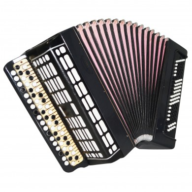 Bayan Etude 205, made in Tula, Russia, 100 Bass Button Accordion New Straps 1616, Bright and Quality sound!
