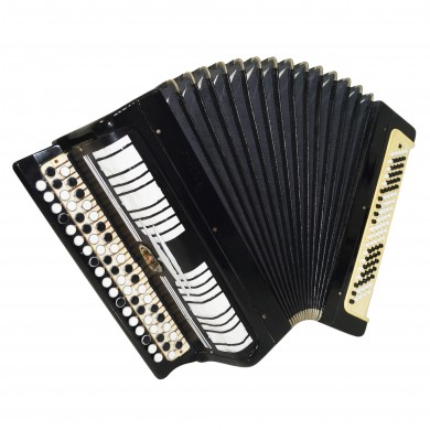 Bayan Etude, made in Tula, Russia, B System Button Accordion, New Straps, 1618, Very Beautiful Sound!