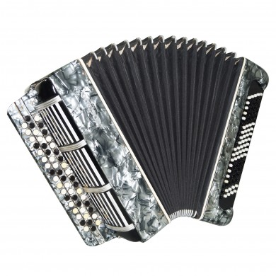 3 Row Bayan Moscow made in Russia 100 Bass Folk Button Accordion New Straps 1619, Rich and Beautiful Sound!