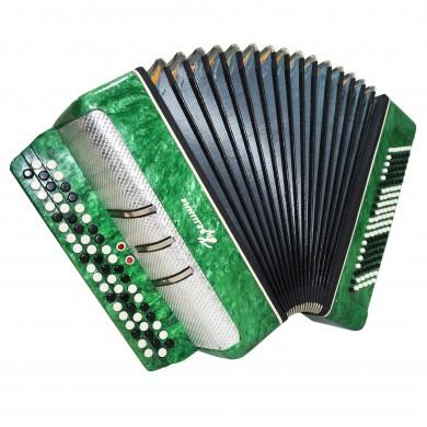 Concert Bayan Kreminne Great Ukrainian Button Accordion 120 Bass New Straps 1625, 2 Registers, Very Beautiful and powerful sound!