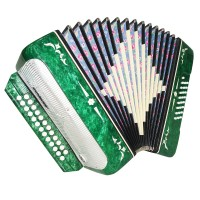 Harmonica Belarus, Russian Button Accordion, 25x25 Garmon, New Straps, Case 1626, Very Beautiful sound.