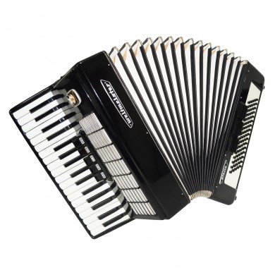 Close to New! Weltmeister Stella 80 Bass German Piano Accordion Straps Case 1623, Original Musical Instrument, Excellent Sound!