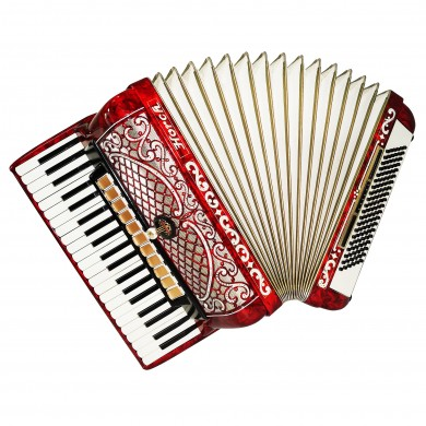 Horch Deluxe 120 Bass, Luxurious Piano Accordion made in Germany New Straps 1643, Very Beautiful and Powerful Sound!