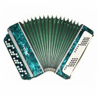 Almost Unused! Bayan Ukraine, 3 Rows Chromatic Button Accordion, New Straps 1657, B System, Very Nice and Bright Sound!