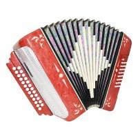 Almost Unused Russian Harmonica Button Accordion Garmon Belarus Straps Case 1628, 25x25 2 Switches, Very Beautiful sound.