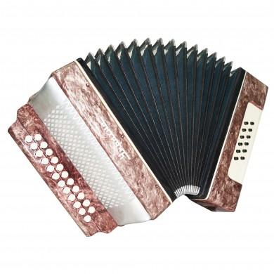 Vintage Garmon Ukraine, Button Accordion Folk Harmonica 23x12 Squeezebox 1663, Very Nice and Bright sound!