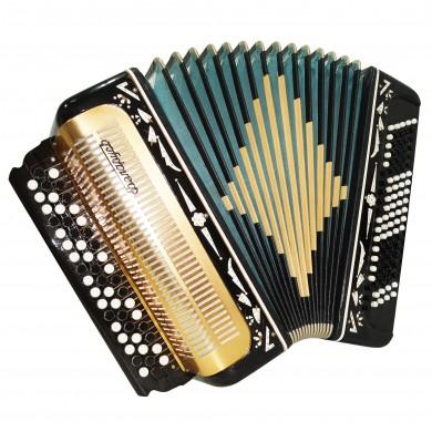 Folk Russian Button Accordion, 3 Row Bayan Belarus, made in USSR New Straps 1645, Wonderful sound!