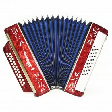 Harmonica Vesna 2, Russian Button Accordion Garmon, 25x25 New Straps Case 1633, Squeezebox, Very Nice and Bright sound!