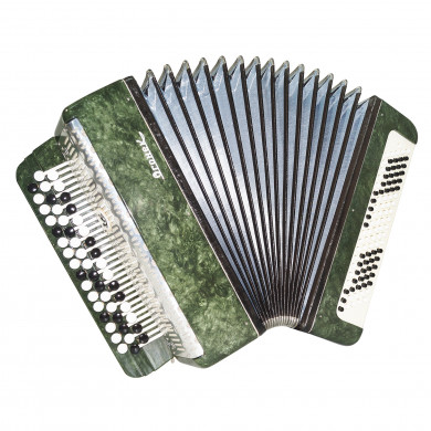 Russian Bayan Ogonyok for Beginner Children Kids Button Accordion 100 Bass 1706, New Straps, B System, Beautiful and Bright sound.