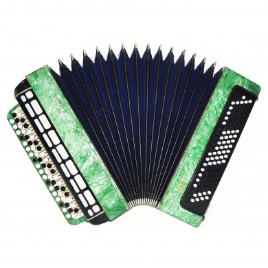 Perfect Bayan Etude 205 Tula, 100 Bass, Russian Button Accordion New Straps 1637, Bright and Quality sound!