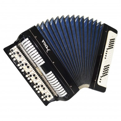 Bayan Etude, made in Tula, Russian Chromatic Button Accordion, New Straps, 1638, Very Beautiful and Powerful Sound!